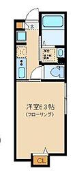 Sunny Hill Court Nakanosakaue 1階1Kの間取り