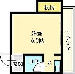 コーポ川内1号館[2階]の間取り