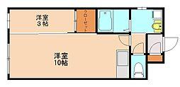 SY UMEBAYASHI[3階]の間取り