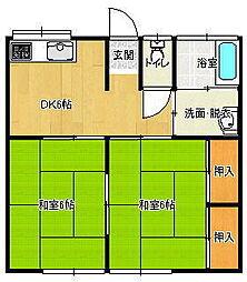 清水アパート[2階]の間取り