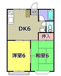 アビタ・シャルムパート2[2階]の間取り