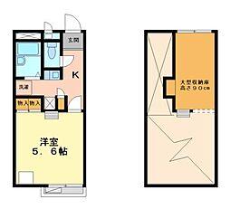 兵庫県姫路市御立東1丁目の賃貸アパートの間取り