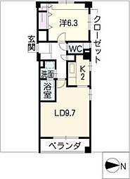 オークハウス千種[2階]の間取り