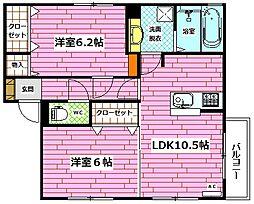 Droom相田4丁目[102号室]の間取り