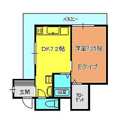 メゾンスエヒロA[2-E号室]の間取り