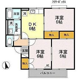 長野駅徒歩16分・スカイガーデン青沼 A[202号室]の間取り