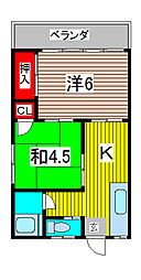 桜ハウス[2階]の間取り