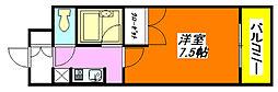 パレイースト小阪 202号室[2階]の間取り