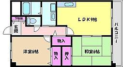 兵庫県芦屋市南宮町の賃貸マンションの間取り