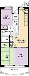 URアーバンラフレ小幡2号棟[4階]の間取り