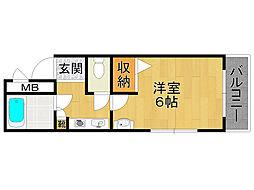 ステラハウス14[3階]の間取り