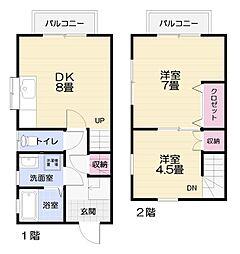 [テラスハウス] 神奈川県横須賀市太田和2丁目 の賃貸【/】の間取り