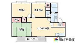 メロディハイツ八尋[2階]の間取り