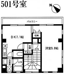 HOUZEN III[501号室号室]の間取り