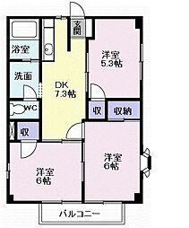 ルミナスナカヤ B棟[1階]の間取り
