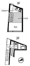 ハウス・ホンマチ[D号室]の間取り