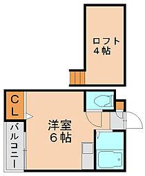 パレット東比恵1[1階]の間取り