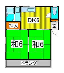 コーポ桜[2階]の間取り