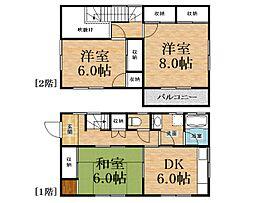 [一戸建] 千葉県八街市八街ろ の賃貸【/】の間取り