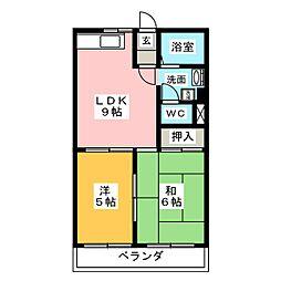 メゾン笹原II[2階]の間取り