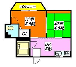 大宝小阪マンション 402号室[4階]の間取り