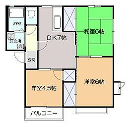 メゾン中村C[1階]の間取り