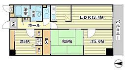 キャッスルコート福崎[603号室]の間取り