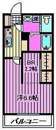 埼玉県さいたま市中央区本町東1丁目の賃貸アパートの間取り