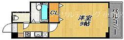 JR鹿児島本線 小倉駅 徒歩6分の賃貸マンション 3階1Kの間取り