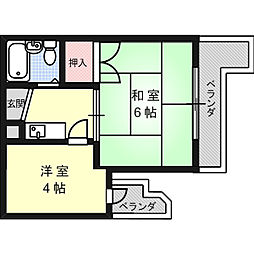 メゾンジェルミナール[2階]の間取り