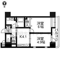 アリスタ四条西洞院505号室[5階]の間取り