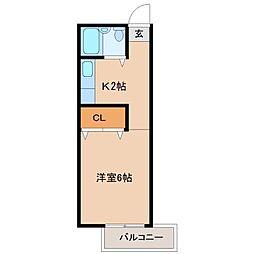 SUNハイツ[1階]の間取り