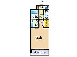 エステートモア天神STUDIO[5階]の間取り