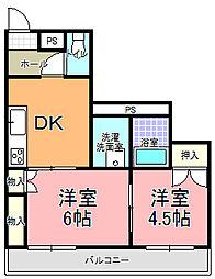 七字マンションII[105号室]の間取り