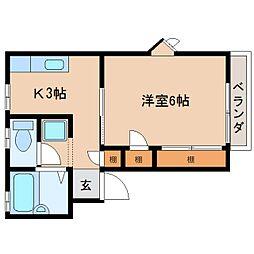 静岡県静岡市清水区草薙2丁目の賃貸マンションの間取り