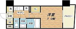 セイワパレス梅田茶屋町[6階]の間取り