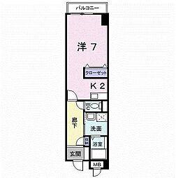 TAKADA.BLD.NO2[4階]の間取り