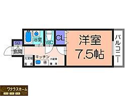 HIYORI Ⅱ[4階]の間取り