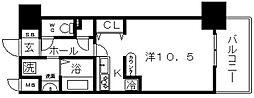ブランクレール谷町[9階]の間取り