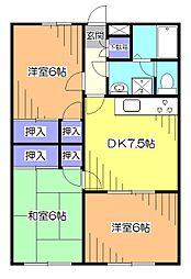 東京都西東京市南町6丁目の賃貸マンションの間取り