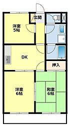 愛知県豊田市陣中町2の賃貸マンションの間取り