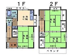 [一戸建] 広島県呉市東畑2丁目 の賃貸【/】の間取り