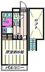 埼玉県草加市草加2丁目の賃貸マンションの間取り