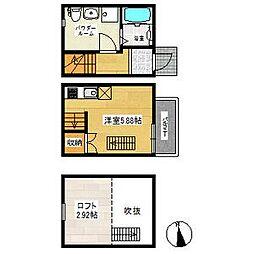 アースクエイク井戸田(アースクエイクイトダ)[2階]の間取り