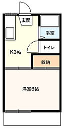 桜コーポB[205号室]の間取り