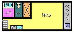 エレファント中之丸[2階]の間取り