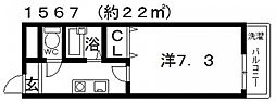 D.H白鳥ビル[402号室号室]の間取り