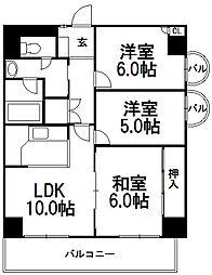 ライオンズマンション平岸第6[304号室]の間取り