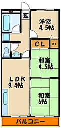ナイスマンション[3階]の間取り