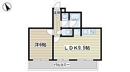 カーサ木戸坂[401号室]の間取り